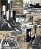 Ottersbach, Heribert C.1966 Köln - lebt und arbeitet in Leipzig + SörmlandOhne Titel (WVZ: HCO-0045/93). 1993. Unikate Photocollage. Gelatinesilberabzüge, C-Prints, Abbildungen aus Tageszeitungen, s/w Kopien. Zeichenkarton. Passepartout. 56,9 x