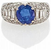 Saphir-Diamant-Ring