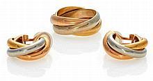 Trinity-Set: Ohrclips und Ring