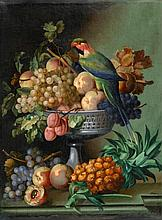 1807 Lyon-GuillotièreStill Life of Fruits with a Parrot.