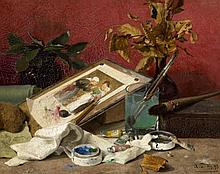 ca. 1900Still Life with Utensils of a Painter.