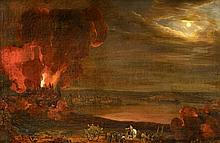 Mainz 1759 - 1842 - attributedThe Fire of the Cathedral of Mainz in the Night from June 28th to June 29th, 1793.