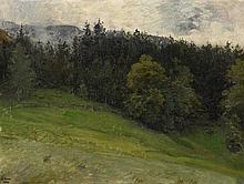 1829 Wiesbaden - 1910 BerlinForest Study.