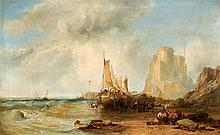 ca. 1825 - 1895 LondonBy the Breton Coast.
