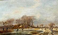 The Hague 1834 - 1919Dutch Winter Landscape by a Canal.