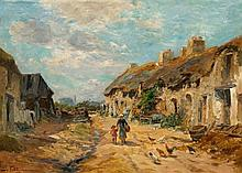 1844 Neufchateau - 1925 ParisOn the Street of a Village in Southern France.