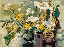1901 Herford - 1968 Bad SalzuflenStill Life with Gladiola and Mirror.