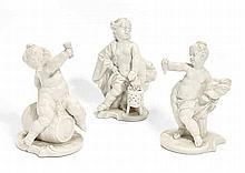 Bacchus, Ceres und die Allegorie des Winters je als Putto