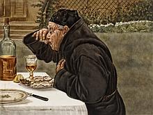 Bildplatte 'Der Austernesser'