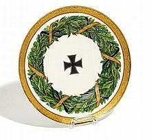 Teller mit Eichenlaub aus einem Speiseservice für Prinz Wilhelm d.Ä