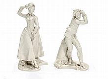 Harlekine und Harlekin aus der Commedia dell'Arte