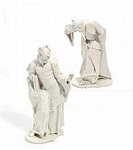 Chinesischer Priester und Chinese, das Haupt neigend
