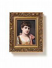 Bildplatte mit Mädchenporträt