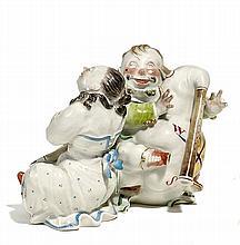 Chinesenpaar mit Dudelsack und Flöte