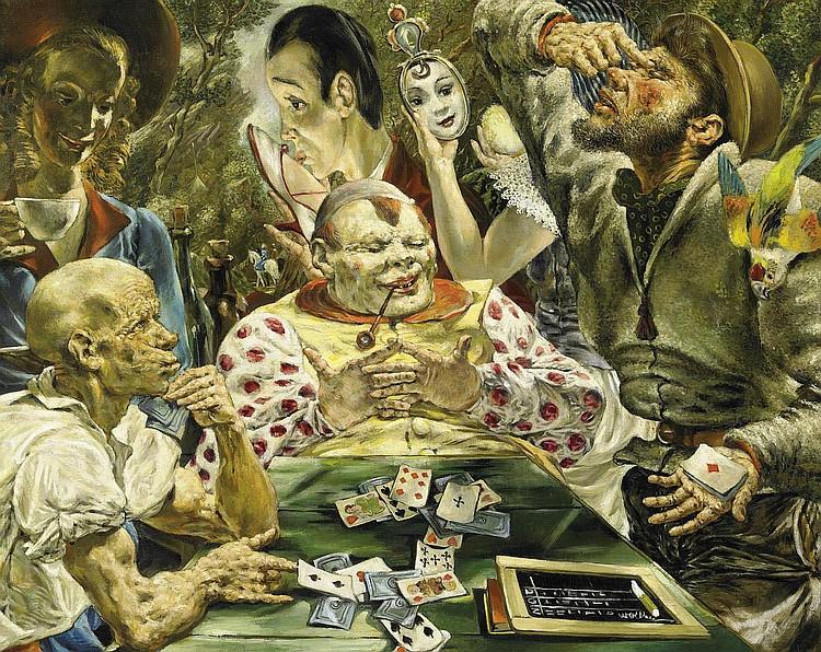 Wollheim, Gert Heinrich1894 Dresden - 1974 New York Die Kartenpieler.