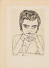 BECKMANN, MAX 1884 Leipzig - 1950 New York Bildnis