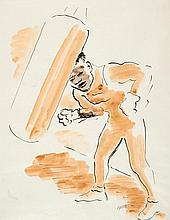 GROSZ, GEORGE Berlin 1891 - 1959 The Boxer. Ca.