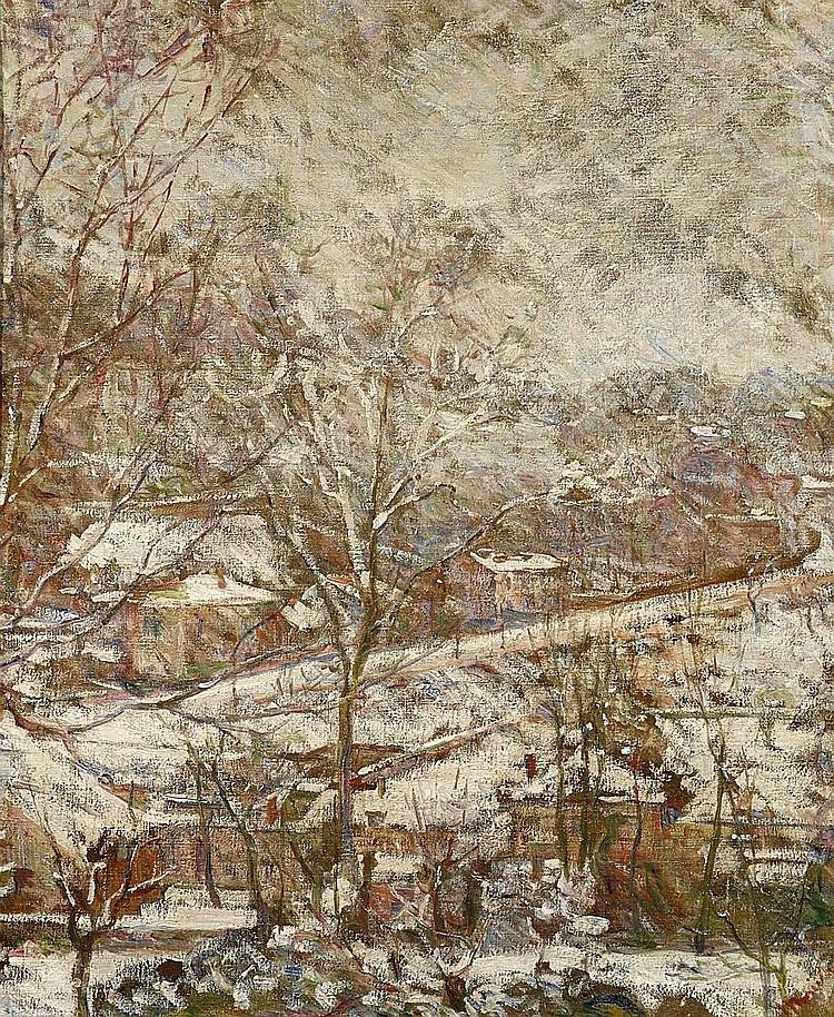 Bracquemond, Marie 1840 Argenton - 1916 Sèvres  Paysage d`Hiver.