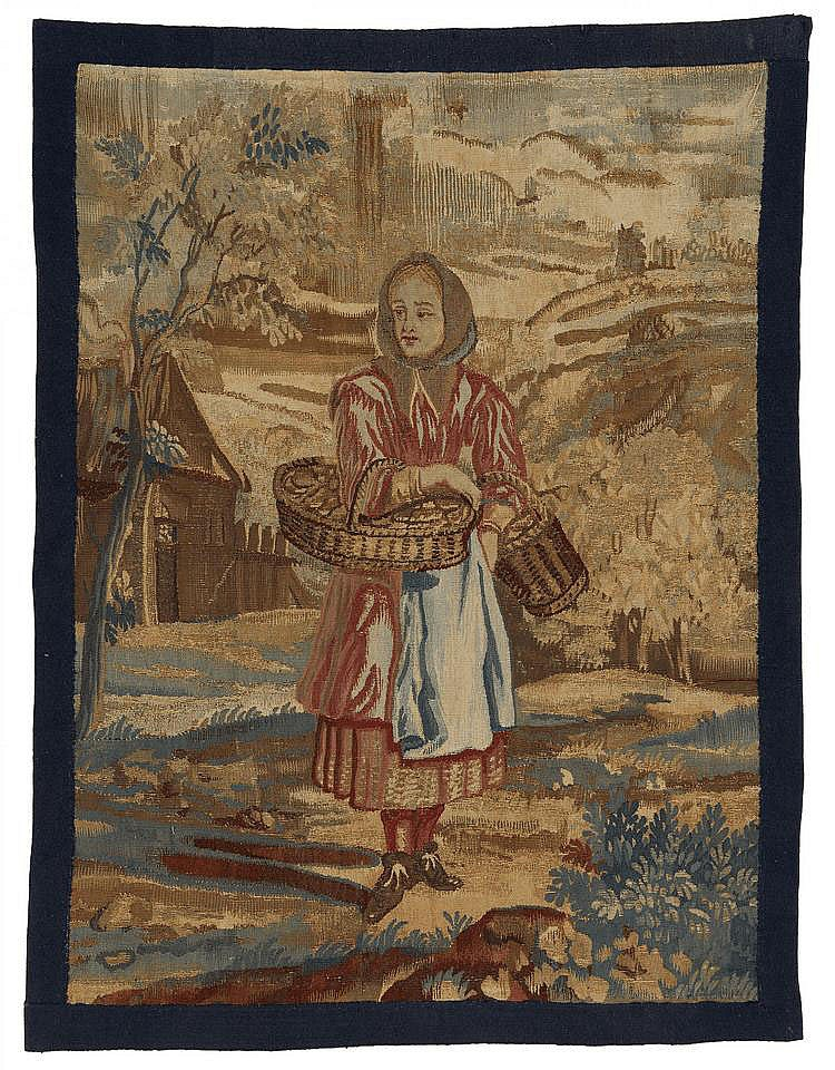 Small Tapestry Fragment with Peasant Woman.