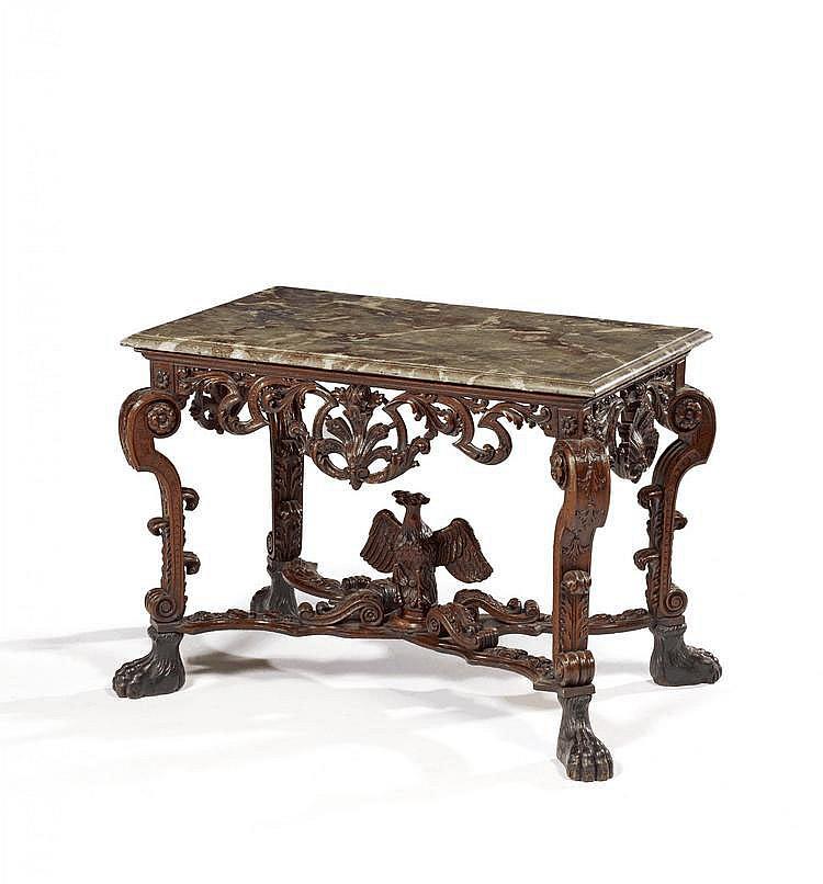 Opulent Régence Console. Liège. 18th C. Oak,