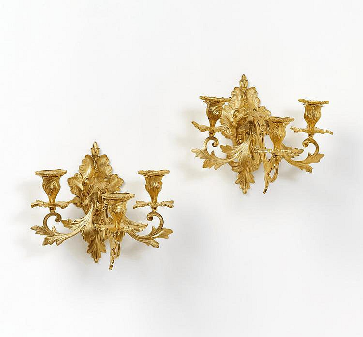 Pair of Appliques in Louis XV Style. France.