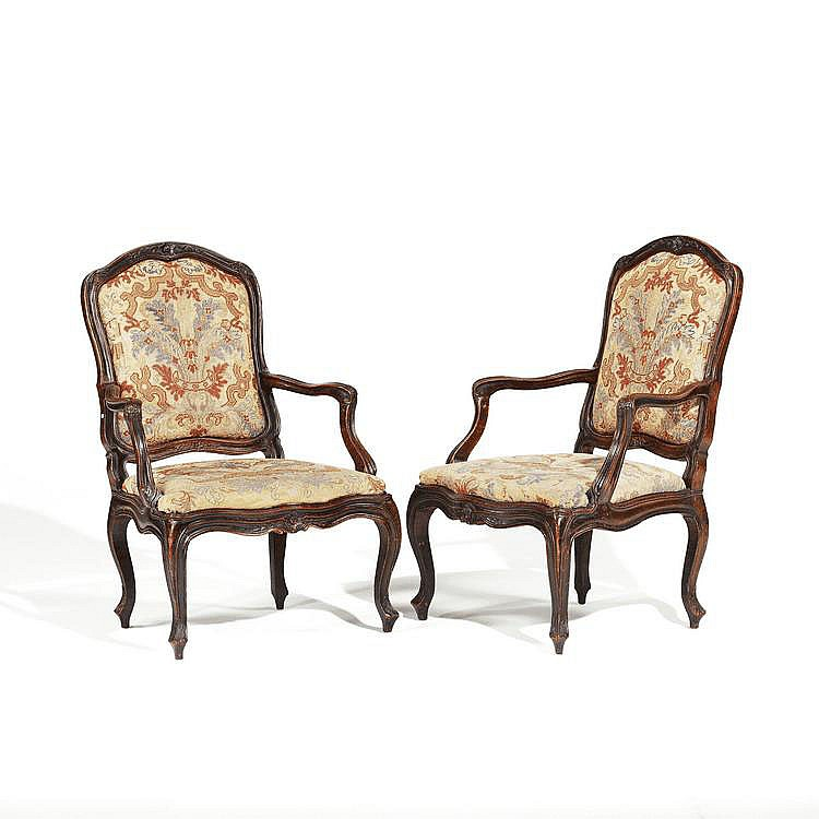 Pair of Louis XV. Armschairs. Italy, presumably