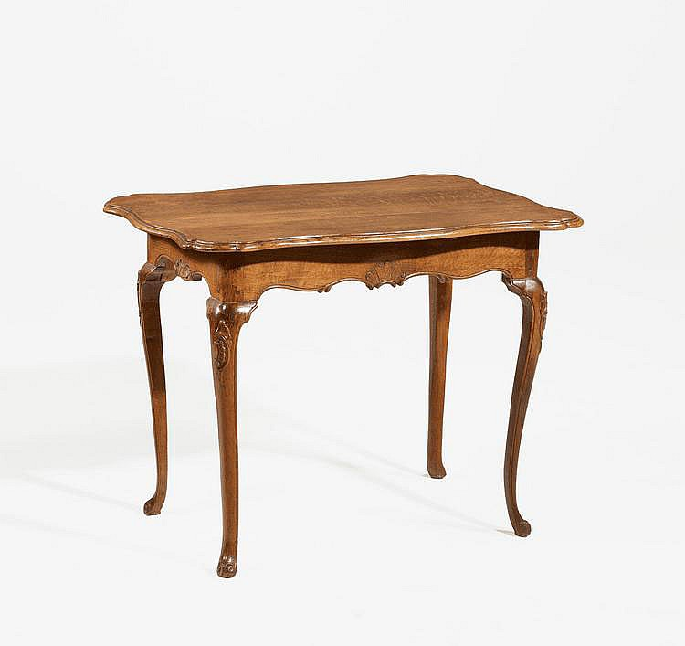 Louis XV. Side Table. France. 18th C. Carved oak.