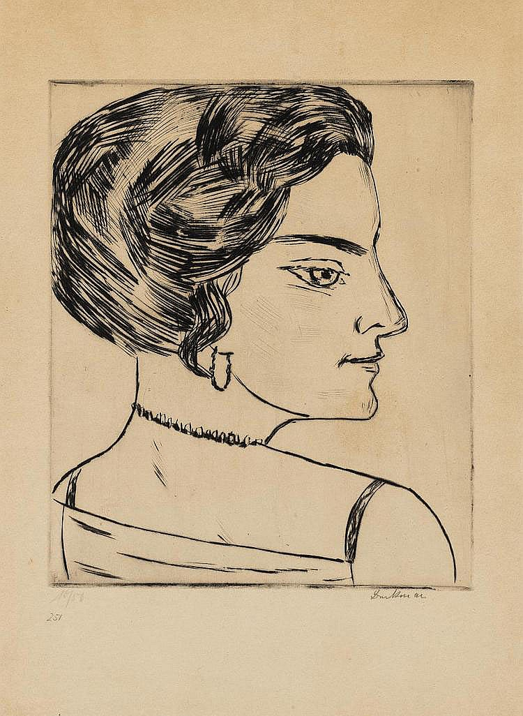 Beckmann, Max 1884 Leipzig - 1950 New York Naila