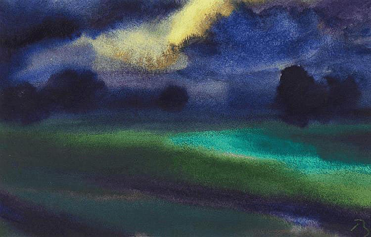 Beck, Herbert 1920 Leipzig Landscape in the