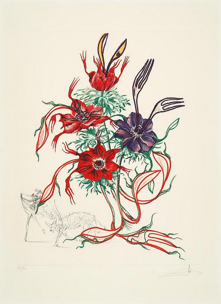 Dalí, Salvador 1904 - 1989 Figueras/Spain Anemone