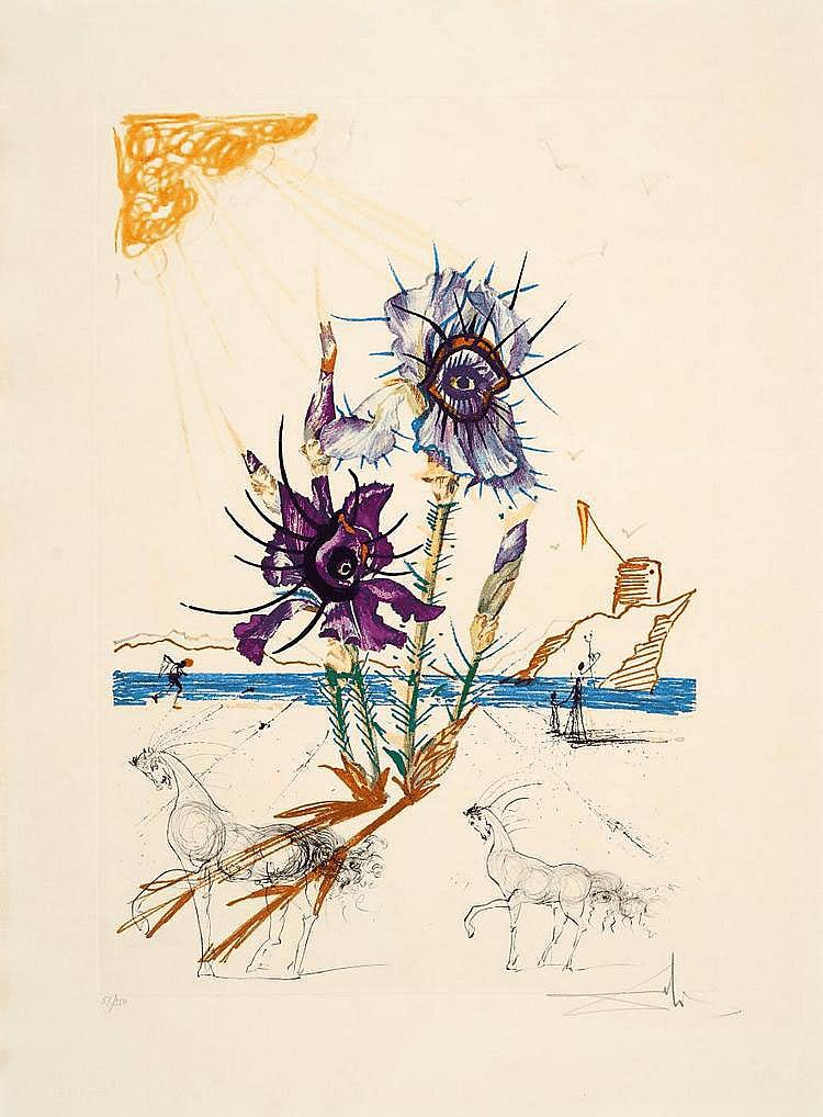 Dalí, Salvador 1904 - 1989 Figueras/Spain Iris