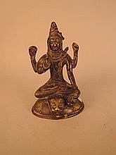 SHIVA assis en bronze.