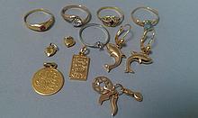 Lot de BROUTILLES en or et métal (vendues en l'état)