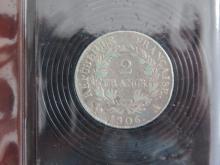 Lot de 2 PIECES : 2 Francs 1806 A Napoléon 1er , état TB et 1 Franc 1806 A Napoléon 1er , état TTB