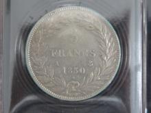 7 PIECES de 5 Francs Louis-Philippe, état TB