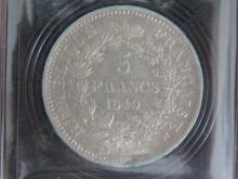 PIECE de 5 Francs 1849 K Hercule, état  TB+