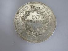 PIECE en argent de 50 francs de 1977.