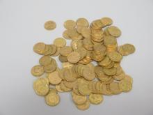 177  PIECES de 20F or : 50 pièces Napoléon XX°, 127 pièces Napoléon XIX°. Poids 1138,5g.