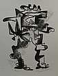 Zadkine, O. (1890-1967), lithograph, Semi-abstract