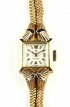 Een retro 14k gouden dames polshorloge Omega