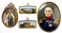 Vier diverse miniaturen.