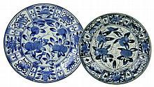Twee Japans blauw wit Arita borden.