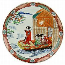 Een Japans Imari ronde schotel.