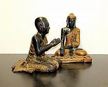Twee boeddhistische sculpturen