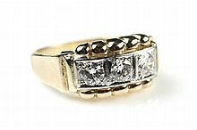 Een retro diamanten ring