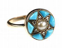 Een antieke turkoois ring