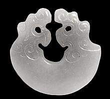 Greyish Jade Open Pendant