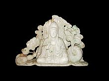Large Jadeite Buddha Group
