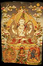Nice Tibetan Thangka, 20th Century