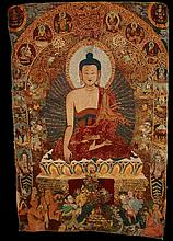 Silk Tibetan Thangka